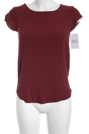 Vero Moda T-Shirt dunkelrot schlichter Stil