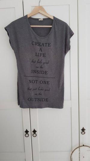 Vero Moda - T-Shirt mit Schriftzug; Gr. S