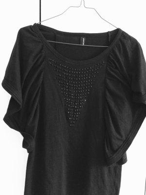 Vero Moda T-Shirt schwarz, besezt mit Steinchen, Größe M