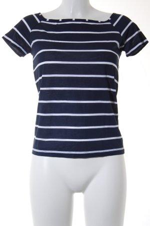 Vero Moda T-Shirt wollweiß-dunkelblau Streifenmuster Casual-Look