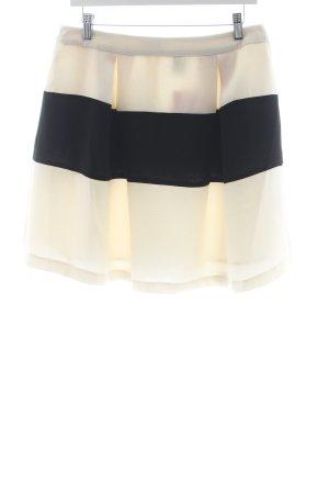 Vero Moda Tellerrock creme-schwarz Streifenmuster Casual-Look