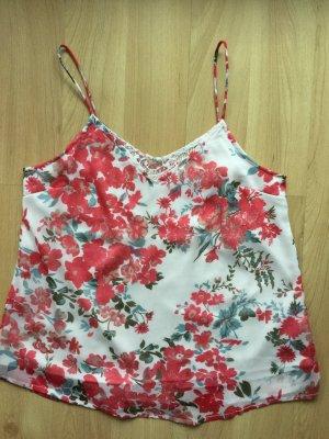 Vero Moda Top mit Blumenprint und Spitze