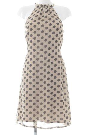 Vero Moda Trägerkleid creme-dunkelgrau Punktemuster Casual-Look