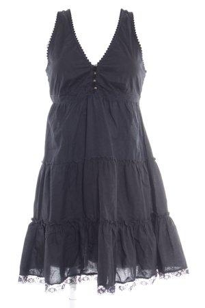 Vero Moda Trägerkleid schwarz Romantik-Look