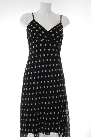 Vero Moda Trägerkleid schwarz-weiß Punktemuster Casual-Look