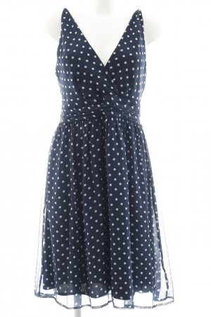 Vero Moda Trägerkleid weiß-dunkelblau Punktemuster Romantik-Look