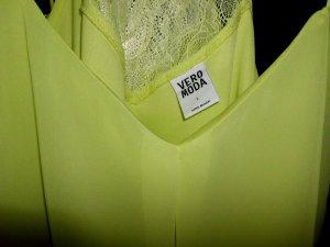 Vero Moda V-Neck Shirt yellow-neon yellow