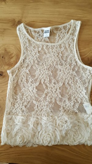 Vero Moda Crochet Top cream mixture fibre