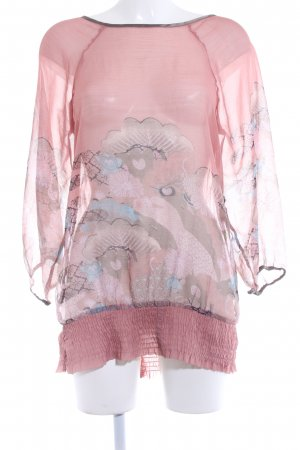 Vero Moda Transparenz-Bluse florales Muster Romantik-Look