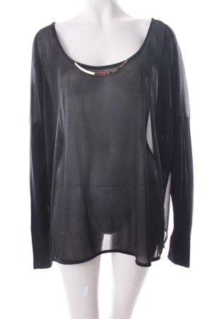 Vero Moda Transparenz-Bluse schwarz-goldfarben Eleganz-Look