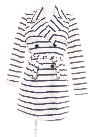 Vero Moda Trenchcoat hellbeige-dunkelblau Streifenmuster Casual-Look