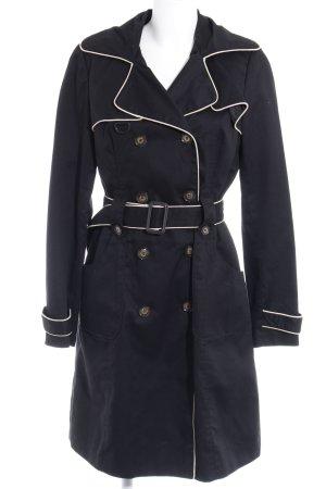 Vero Moda Trenchcoat schwarz-creme Casual-Look