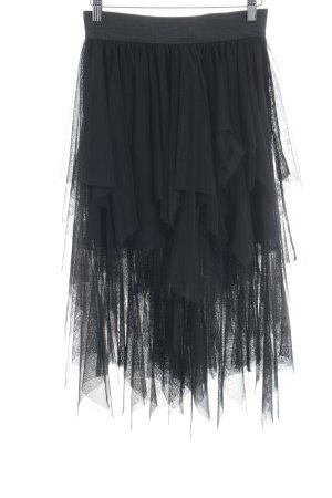 Vero Moda Falda de tul negro estilo extravagante