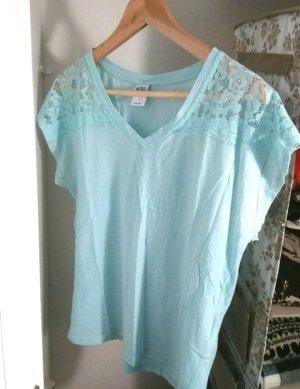 Vero Moda türkises Spitzen Shirt, Größe S