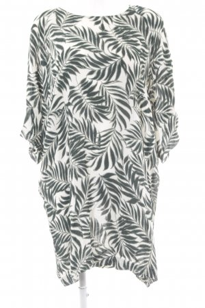 Vero Moda Tunic Dress natural white-forest green floral pattern beach look