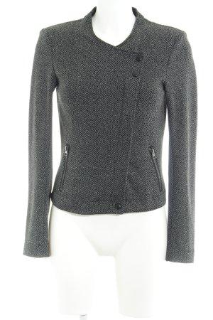 Vero Moda Tweed blazer donkergrijs visgraatmotief casual uitstraling