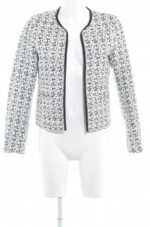 Vero Moda Tweed blazer wolwit-zwart Britse uitstraling