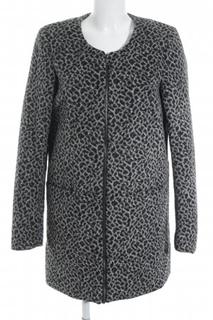 Vero Moda Übergangsmantel schwarz-grau Leomuster Street-Fashion-Look