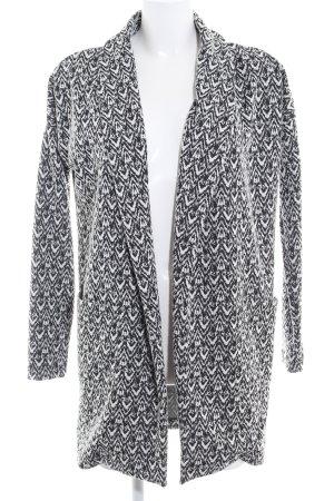 Vero Moda Übergangsmantel schwarz-weiß abstraktes Muster 90ies-Stil