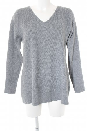 Vero Moda V-Neck Sweater grey-light grey flecked casual look