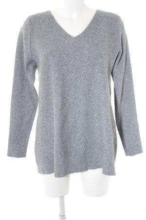 Vero Moda V-Ausschnitt-Pullover grau-hellgrau meliert Casual-Look