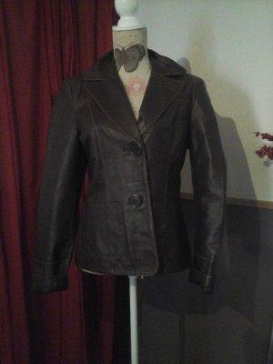 Vero Moda Vintage Leder Blazer Jacke Antik braun Gr. L Top
