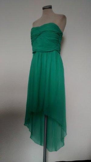 Vero Moda Vokuhila Kleid Chiffon Gr. 42 Bandeaukleid asymetrisch Kleid mint grün