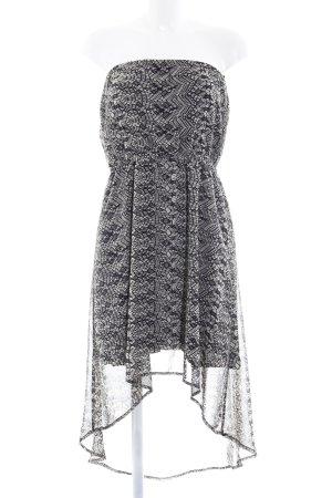 Vero Moda Vokuhila-Kleid schwarz-graubraun Allover-Druck