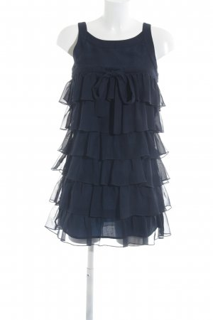 Vero Moda Vestido estilo flounce azul oscuro elegante