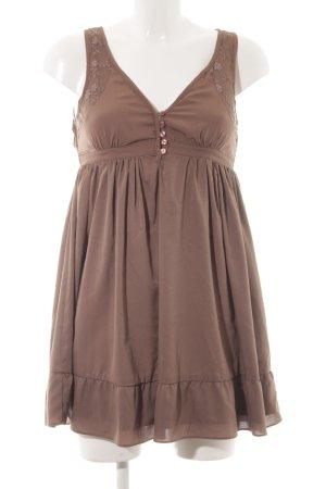 Vero Moda Vestido estilo flounce marrón grisáceo estilo romántico