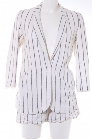 Vero Moda Woven Twin Set oatmeal-black striped pattern casual look
