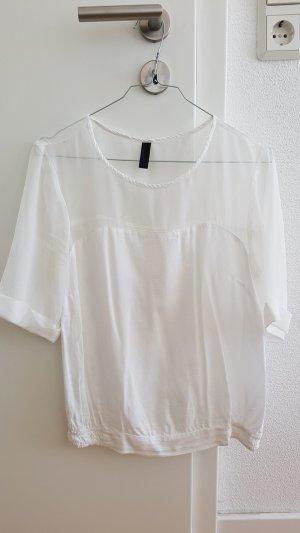 Vero Moda weißes Oberteil transparent Bluse XS / S 36