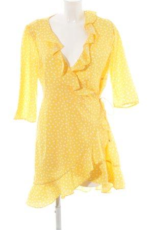 Vero Moda Wraparound yellow-white spot pattern beach look