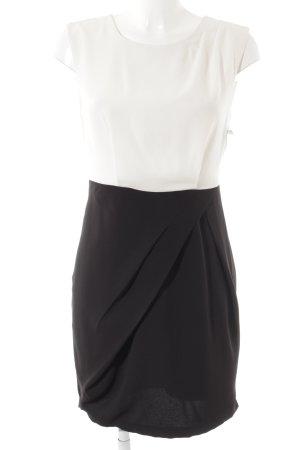 Vero Moda Vestido cruzado blanco-negro estilo «business»
