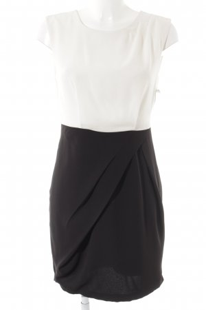 Vero Moda Robe portefeuille blanc-noir style d'affaires