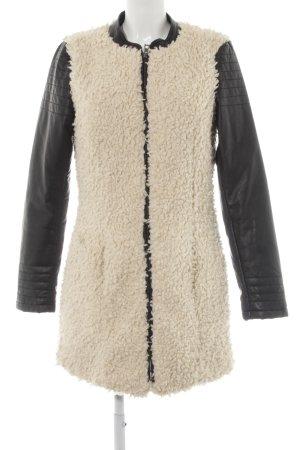 Vero Moda Winterjacke schwarz-wollweiß Casual-Look