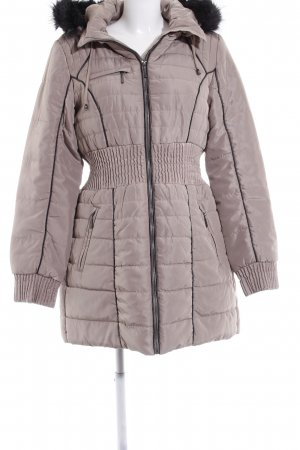 Vero Moda Wintermantel beige-schwarz Casual-Look