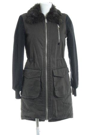 Vero Moda Wintermantel grüngrau-schwarz Casual-Look