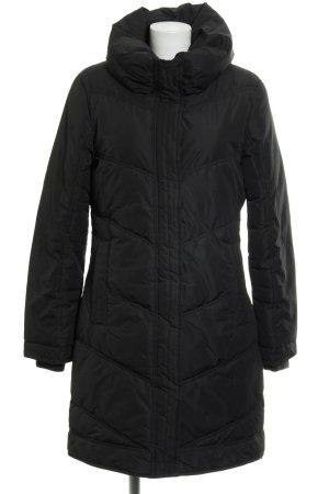 Vero Moda Manteau d'hiver noir motif de courtepointe style simple