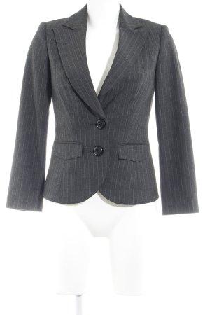 Vero Moda Wool Blazer natural white-dark grey striped pattern business style