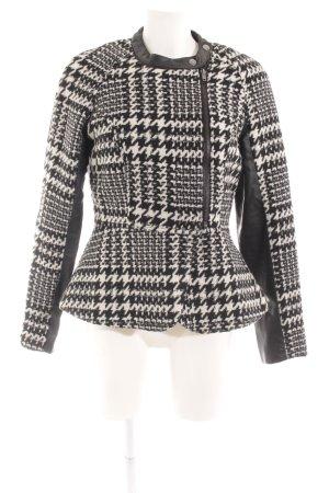 Vero Moda Wolljacke schwarz-weiß Pepitamuster Casual-Look