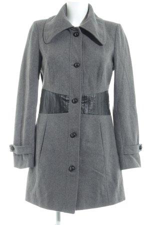 Vero Moda Wollmantel grau-schwarz Casual-Look
