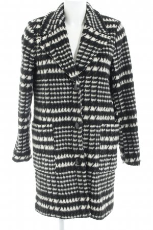 Vero Moda Manteau en laine noir-beige clair Mélange de motifs molletonné