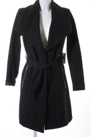 Vero Moda Wollmantel schwarz-silberfarben schlichter Stil