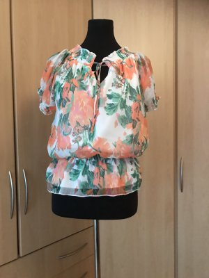 Vero Mode kurzärmlige bunte Sommer - Bluse