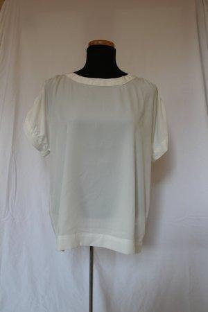 VeroModa Kurzärmelige Bluse weiß/creme
