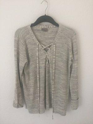 Veromoda Sweater mit Schnürung Grau