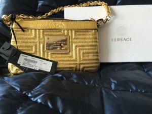 Versace, 100% originale Gianni Versace Handtasche, Gold, Leder, Reißverschluß