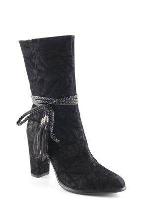 Versace Absatz Stiefel schwarz Casual-Look