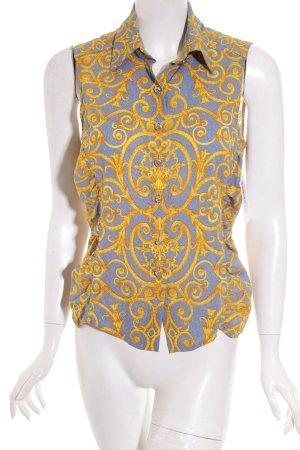 Versace ärmellose Bluse Allover-Druck extravaganter Stil